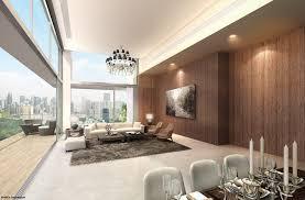 Interior Design High Ceiling Living Room Highline Residences Keppel Land Live