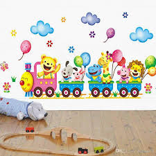fashion children diy removable wall stickers cartoon cute animals fashion children diy removable wall stickers cartoon cute animals train balloon kids bedroom home decor mural decal baby room wall decorations stickers