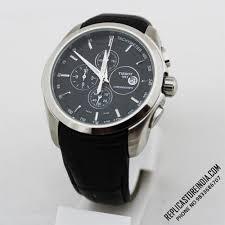 tissot bracelet leather images Black steel tissot 1853 coutrier leather strap chronograph men jpg
