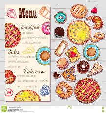 food top view menu template stock vector image 78756521