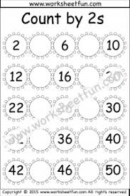Skip Count By 2s Hundreds Chart Skip Counting By 2 Count By 2s 4 Worksheets Free Printable