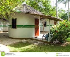 tropical bungalows with thatch roofs stock photo image 38793574