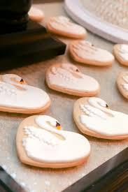 swan sugar cookies swan lake ballet birthday party ideas swan