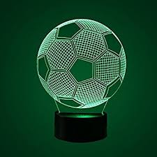 soccer 3d led night light touch table desk optical illusion lamps