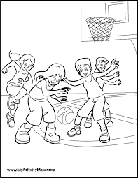 basketball coloring kids coloring pages basketball coloring pages