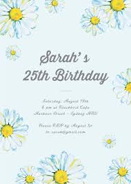 floral edge digital printing birthday invitations