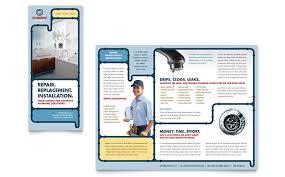 plumbing services brochure template design
