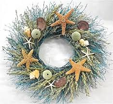 amazon com walk on the beach summer door wreath sea shells
