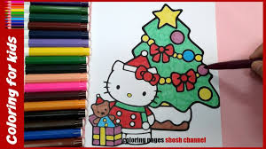 hello kitty christmas coloring pages christmas 2016 from