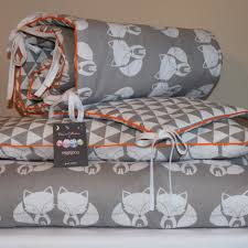 Cot Bed Duvet Cover Boys 100 Cotton Cot Bed Duvet Cover Set Girls Boys Grey Fox Geomertic