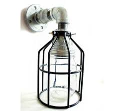 mason jar outdoor lights industrial wall sconce pipe lighting w blue turquoise mason jar for