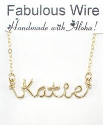 custom made name necklaces wire name necklace wire name necklaces start at 22 95