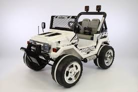 jeep wheels white jeep wrangler style 12v kids ride on car mp3 battery powered
