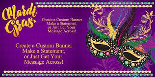 custom mardi gras mardi gras mask custom banner