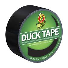 duck brand black color duct tape 1 88 inch by 20 yards single roll