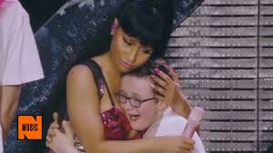 miley cyrus titty pics nicki minaj calms crying boy with the power of her boobs youtube