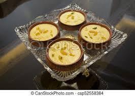 cuisine decorative firni on decorative serve kheer or fereni