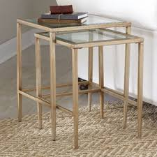 Mirrored Desk Target by Nesting Tables You U0027ll Love Wayfair