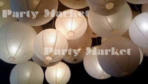paper lanterns with lights for weddings 24 paper lanterns led set mixed size white color round l shade