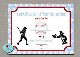 Free Softball Certificate Templates softball certificate pertamini co