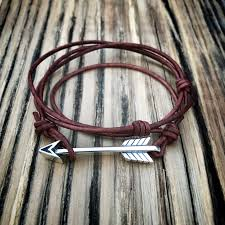 leather sterling bracelet images Strength arrow of courage leather bracelet sterling silver honor jpg