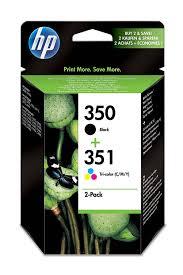 hp 350 black 351 tri color 2 pack original ink cartridges sd412ee