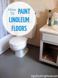 Vinyl Sheet Flooring For Bathroom Painted Vinyl Linoleum Floors U2013 The Ugly Duckling House