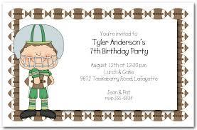 boys football time invitations football invitations