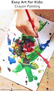 easy art for kids crayon painting babble dabble do