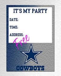 dallas cowboys birthday invitations choice image invitation