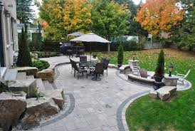 Landscaping Ideas For Backyard Backyard Paver Patio Backyard Boulders Backyard Landscaping Ogs