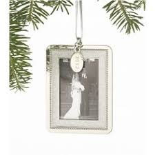 2012 silver plated frame ornament for wallet size santa