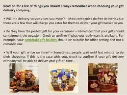 gift basket companies things to remember while choosing online gift basket delivery company