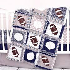 Sport Crib Bedding Sports Crib Set Navy Gray Football Baseball A Vision To
