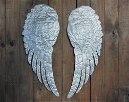Angel Wing Wall Decor Angel Wings Wall Decor Shabby Chic Aqua Gold Hand