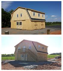 how to build a barn style roof 34x24 modular high profile horse barn includes gambrel style