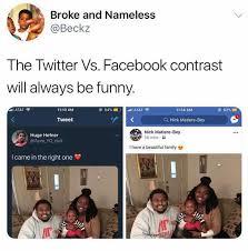 Funny Twitter Memes - dopl3r com memes broke and nameless beckz the twitter vs