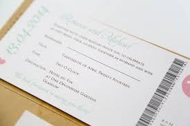 Wedding Invitations Glasgow Kraft Vintage Style Airmail Travel Ticket Wedding Invitation