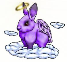 purple rabbit with wings tattoo design by pirate jade rose