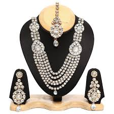 diamond necklace set images Diamond necklace set bagaholics in jpg
