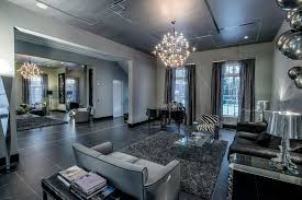 livingroom deco deco living room with chandelier soapstone tile floors in