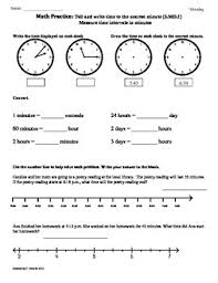 3 md 1 elapsed time part1 3rd grade common core math worksheets