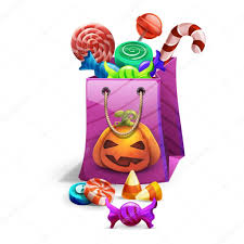 happy halloween sweets and candies icons u2014 stock vector mrdeymos