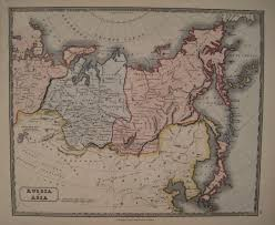 Map Russia Antique Maps Of Russia And Tartary