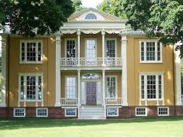 federal style house blue museums spotlight on boscobel house gardens nea
