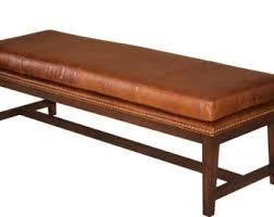 Leather Bench Ottoman by Retro Modern White Genuine Leather Bench Ottoman Coffee