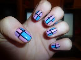 how to do a stripe design with tape nail art designs youtube how