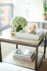 furniture inspiring coffee table decorating ideas cream square