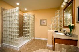 Glass Block Bathroom Designs Bathroom Charming Small Bathroom Remodels With Artistic Glass