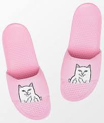 pink slides ripndip lord nermal pink slide sandals zumiez